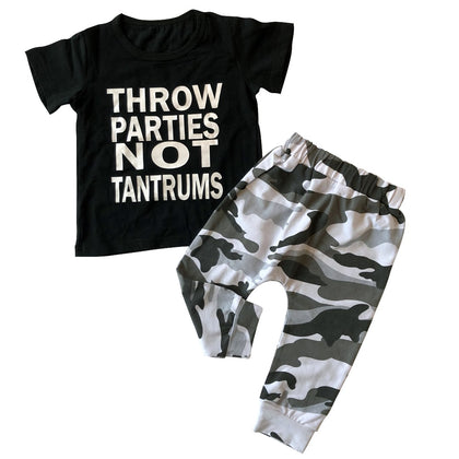 Throw parties t-shirt and pants set