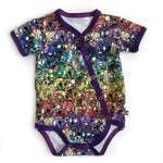 Baby onesies with zombie pattern - teeny rockers