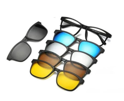 Image of Provision™ 5 IN 1 Polarized Clip on Sunglasses