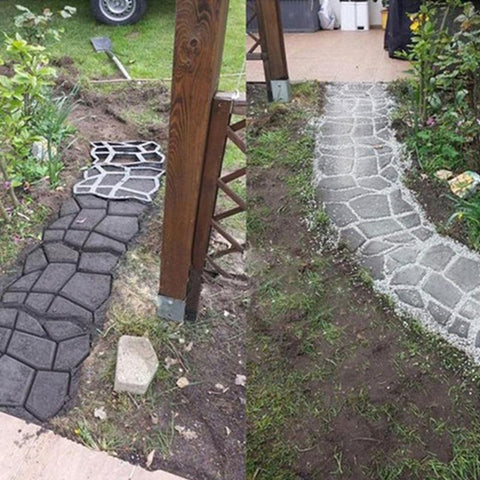 Image of Outdoor DIY Plastic Path Maker Mold