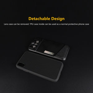 PHOLES 6 in 1 Camera Lens Phone Case For iPhone X