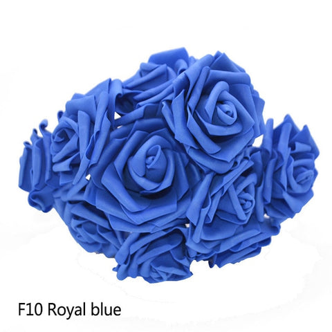 Image of 25 Heads 8CM New Colorful Artificial PE Foam Rose Flowers Bride Bouquet Home Wedding Decor Scrapbooking DIY Supplies