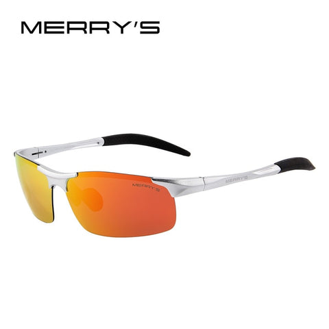 Men Polarized Sunglasses Aviation Aluminum Magnesium Sun Glasses For Fishing Driving Rectangle Rimless Shades