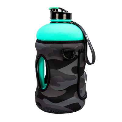 Black Camo | 2.2L Hydra Bottle Sleeve | Neoprene Bottle Sleeve