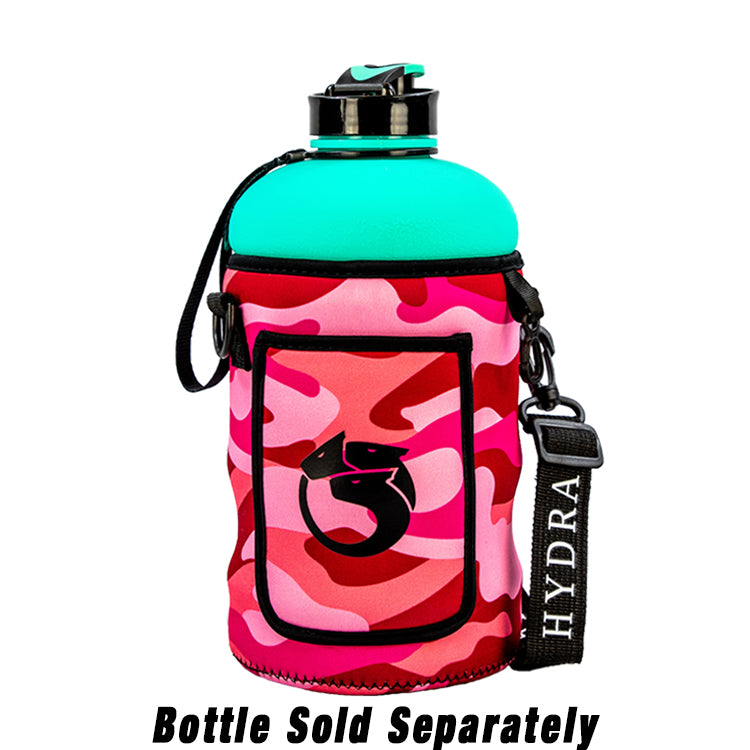 Pink Camo | 2.2L Hydra Bottle Sleeve | Neoprene Bottle Sleeve