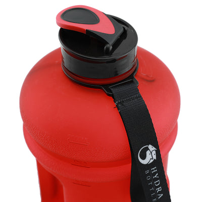 Matte Red 2.2L Big Bottle with closed lid