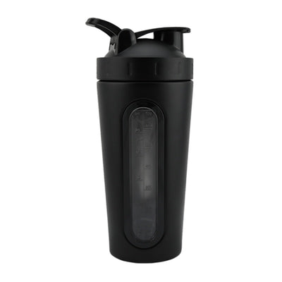Measurement - Black stainless steel shaker