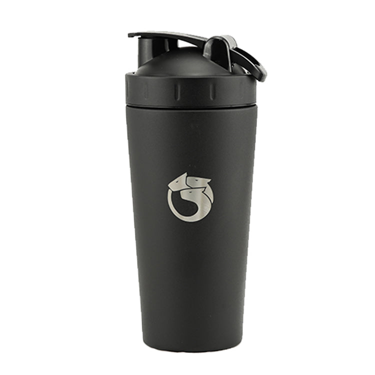 Black Hydra Shaker | 700ml Stainless Steel Shaker | The Hydra Shaker