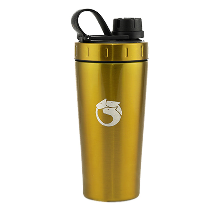 Gold Hydra Shaker | 700ml Stainless Steel Shaker | The Hydra Shaker
