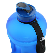 Matte Blue 2.2L Big Bottle with closed lid