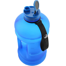 Matte Blue 2.2L Big Bottle with open lid