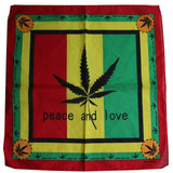 100% Cotton Weed Leaf Bandana
