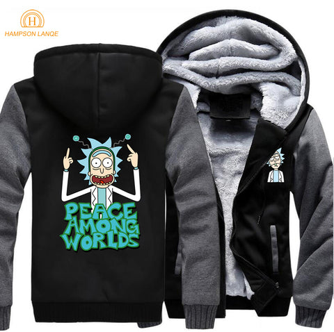 Rick and Morty Peace Among Worlds Hoody Sweater