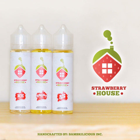Strawberry House - Ice 60ml Give in to Your Cravings! Ejuice Delivered to Your Doorsteps. Order Online, Send a Text Message or via Facebook Page.