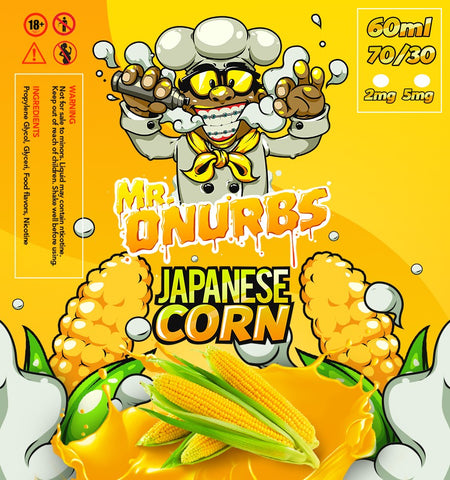 MR. ONURBS - Japanese Corn Give in to Your Cravings! Ejuice Delivered to Your Doorsteps. Order Online, Send a Text Message or via Facebook Page.