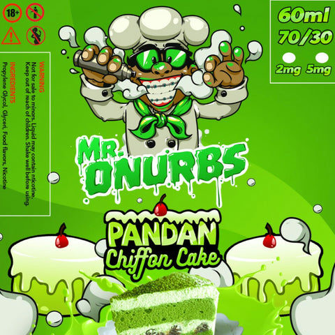 MR. ONURBS - Pandan Chiffon Cake Give in to Your Cravings! Ejuice Delivered to Your Doorsteps. Order Online, Send a Text Message or via Facebook Page.