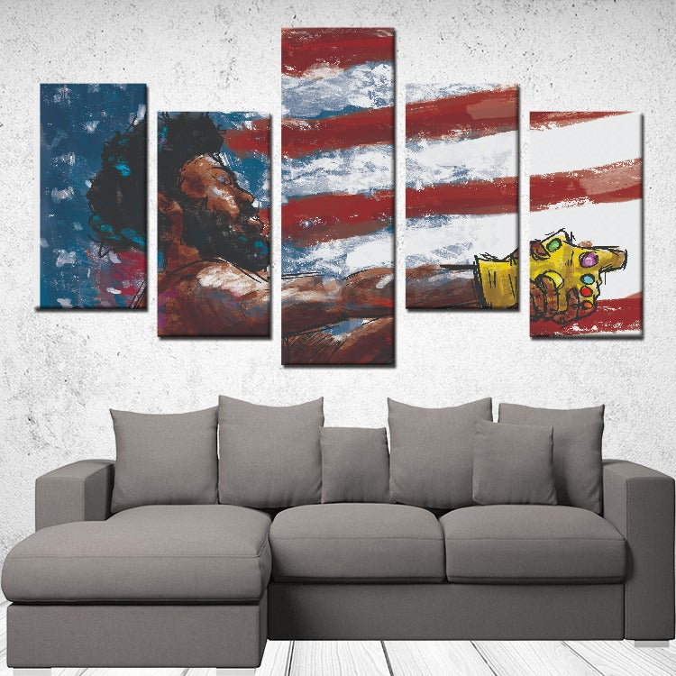5 Panels Canvas Prints Wall Art for Wall Decorations
