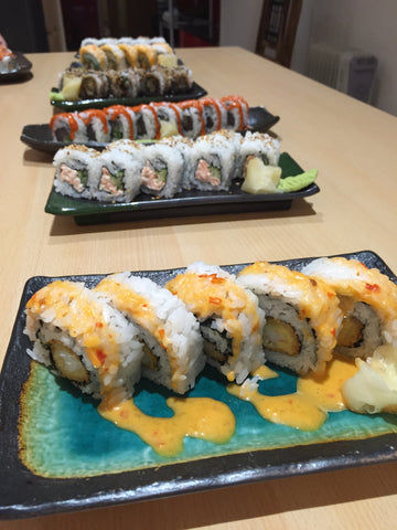 The fine sushi rolls at Tenkaichi Sushi and Noodle Bar Cardiff