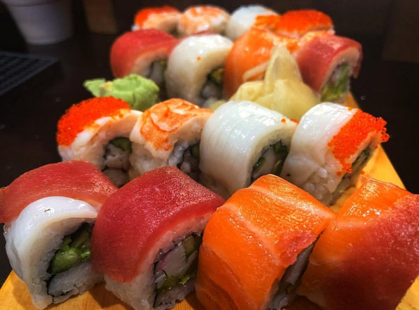 Handmade Rainbow Maki at Tenkaichi Sushi and Noodle Bar, simply one of the best restaurants Cardiff