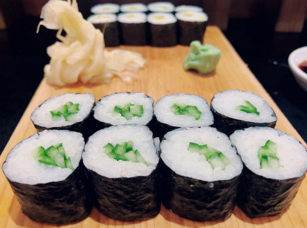 Perfectly crafted vegetarian sushi in Cardiff at Tenkaichi Sushi and Noodle Bar