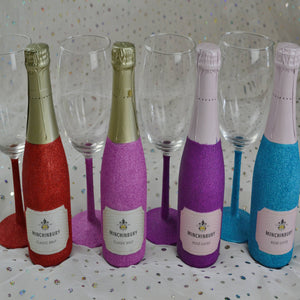 Glittered Wine and Wine Glass - EPM Emporium