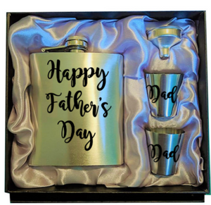 8oz stainless steel hip flask set