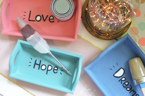 'Love Hope Dream' Trays (Set of 3)