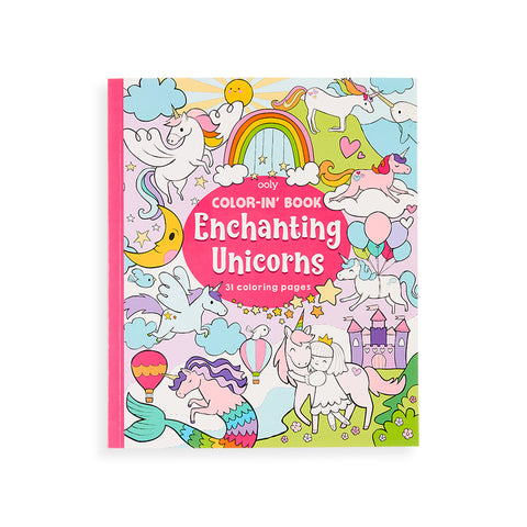 Color-In' Book (Enchanting Unicorns)