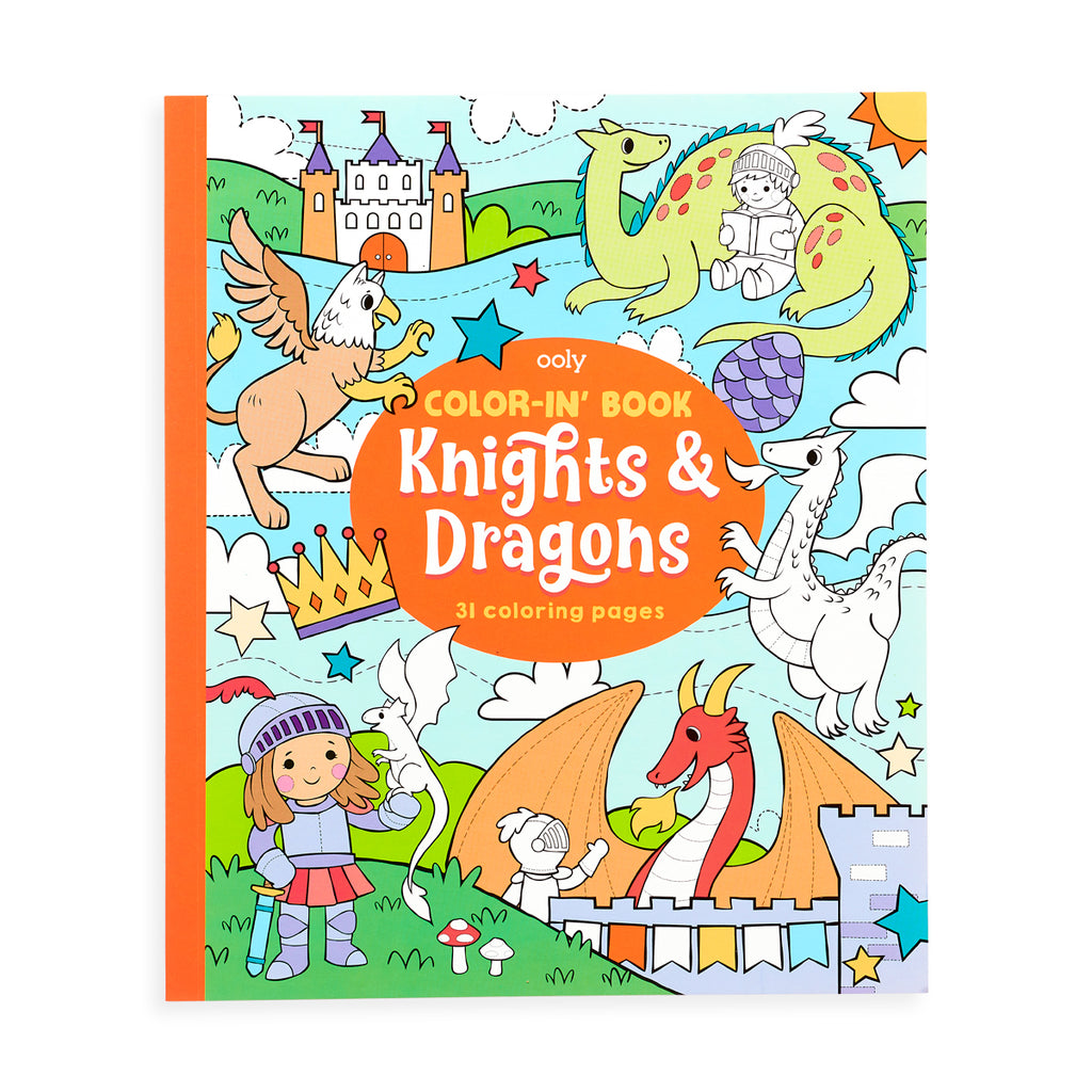 Color-In' Book (Knights & Dragons)