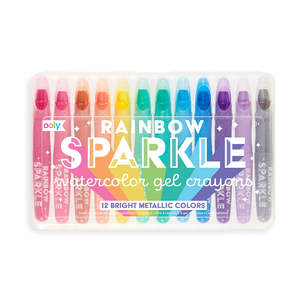 Rainbow Sparkle Watercolor Gel Crayons (Set of 12)