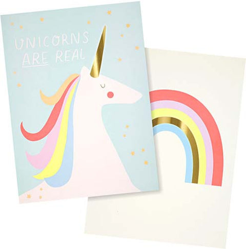 Rainbows & Unicorns Art Prints (set of 2)