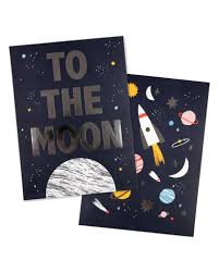 Space Art Prints (set of 2)