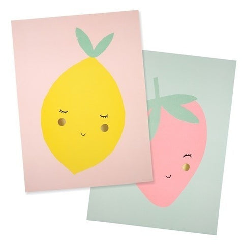 Lemon Art Prints (set of 2)