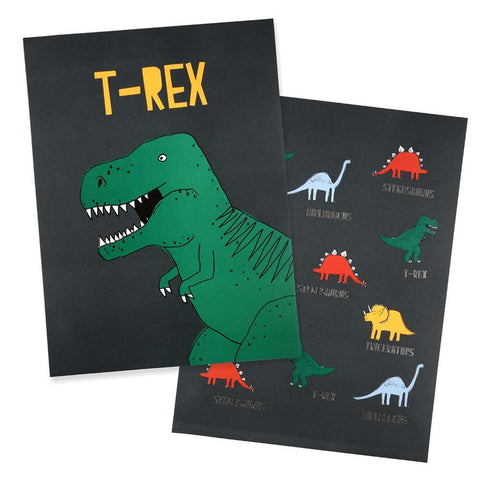 Dinosaur Art Prints (Set of 2)