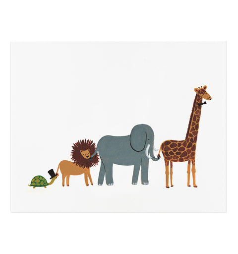 Animal Parade Art Print (8x10)