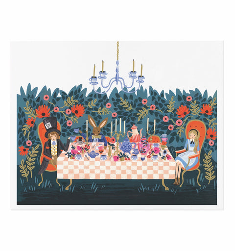Alice in Wonderland Tea Party Art Print (8X10)