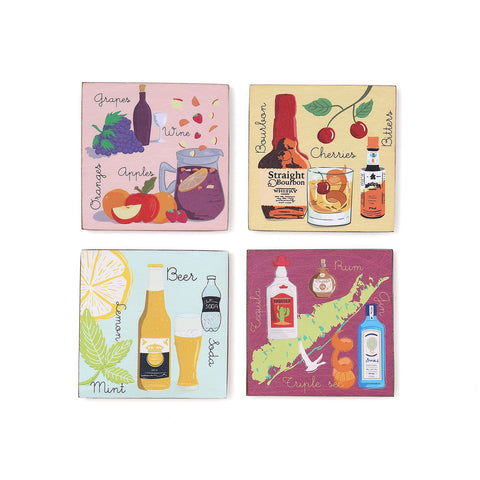 Cocktail Coasters (Set of 4)