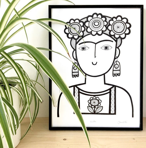 Frida Print by Jane Foster in A4 & A3