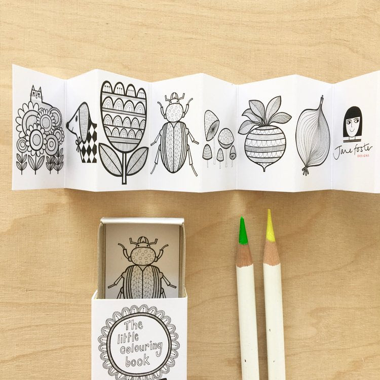 Miniature Matchbox Colouring Book by Jane Foster
