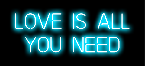 Love is All You Need Neon Art Print