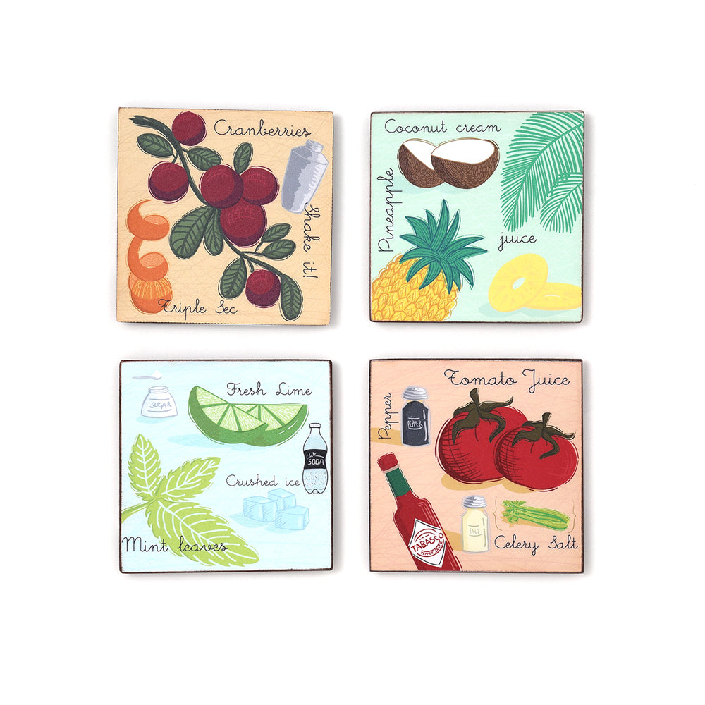 Mocktail Coasters (Set of 4)