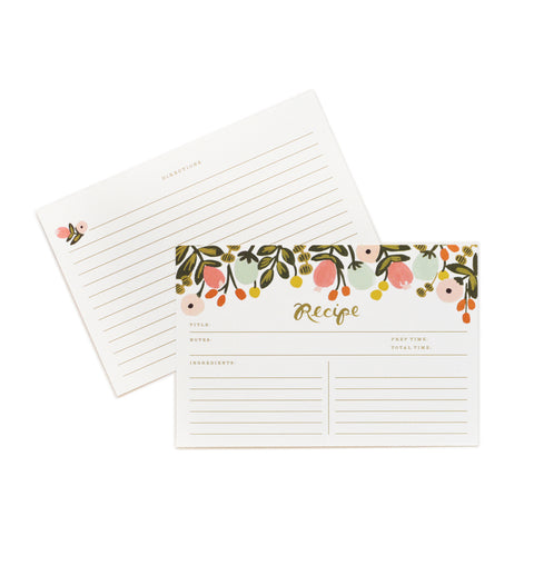 Pack of 12 Hanging Garden Recipe Cards