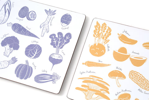 Table Mats - Summer & Winter (Set of 2)