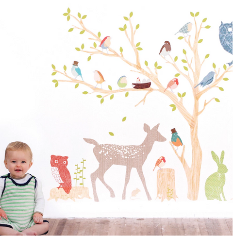 Woodland Scene (Earthy) - Love Mae Decals