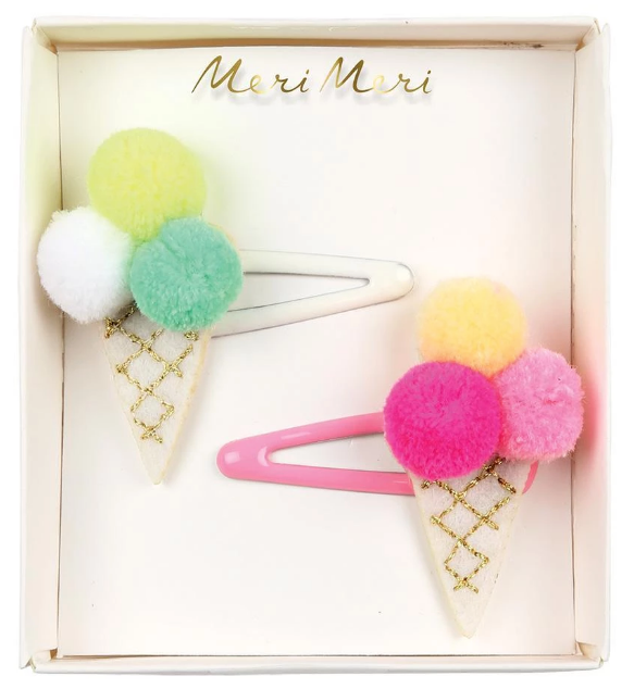 Pom Pom Ice Cream - Hair Clips