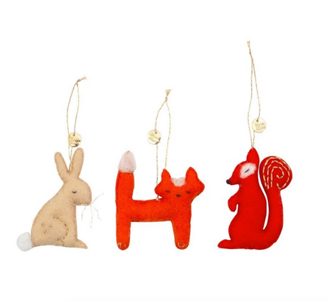 Forest Animals Tree Decoration Set - Meri Meri