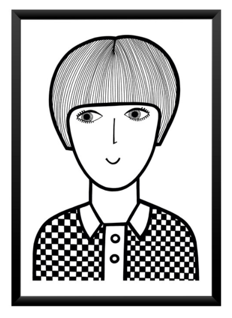 Mary Quant by Jane Foster in A4 & A3