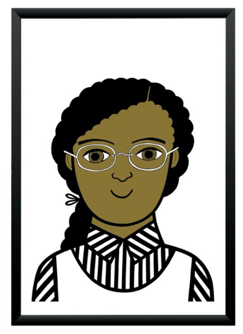 Rosa Parks Print by Jane Foster in A4
