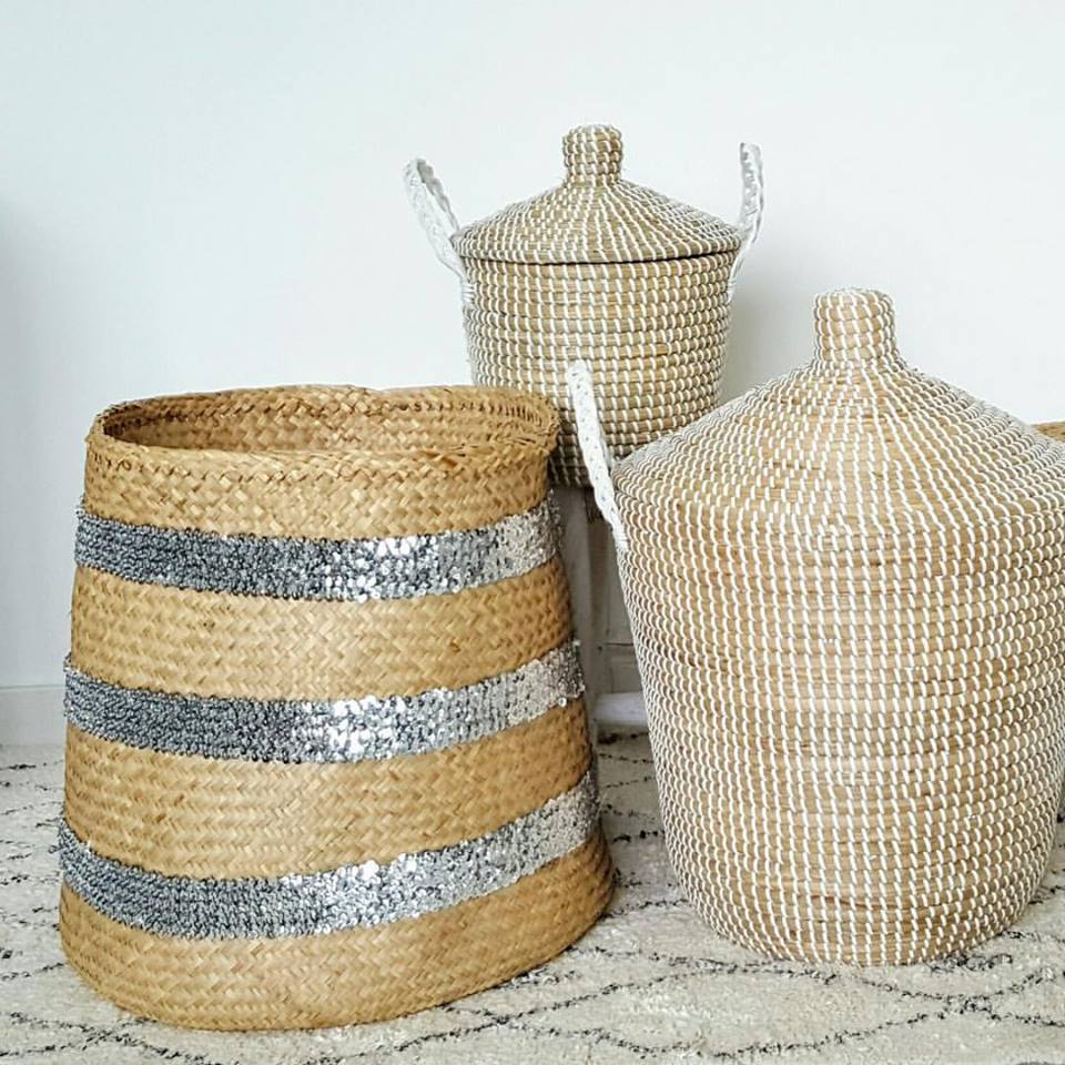 Sequin Basket - Large