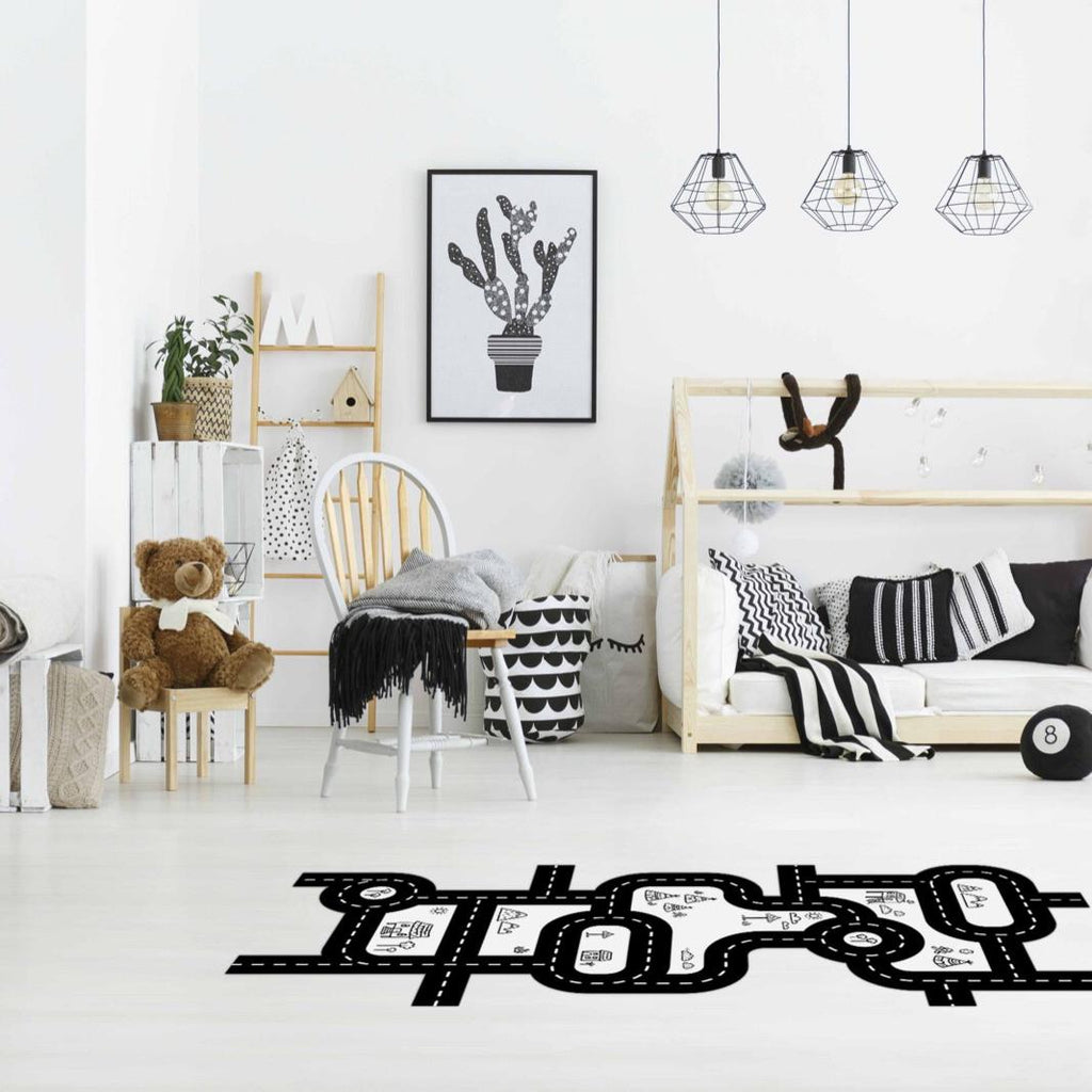 Car Track Fabric Floor Decal - by Urban Li'l